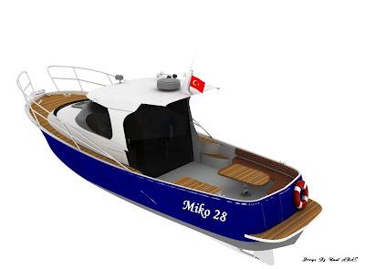 Gezinti ve Balıkçı teknesi tasarımı