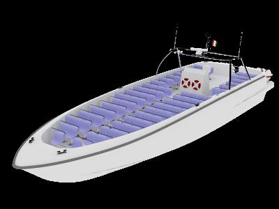 Fiber eğlence teknesi