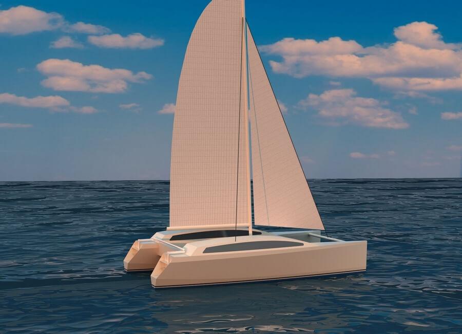 Catamaran Boat Design   Cat 24 -Catamaran plans, Catamaran Production