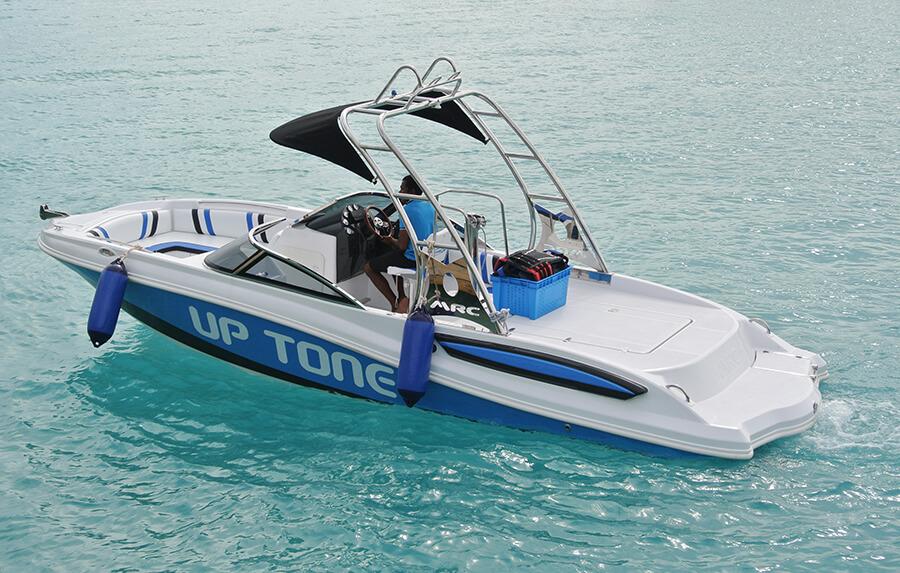 Parasailing Boat Design | Parasailing 24 - Winch Boat ...